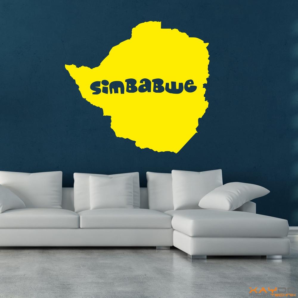 "Wandtattoo ""Simbabwe"""