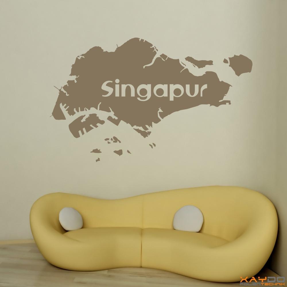 """Wandtattoo """"Singapur"""""""