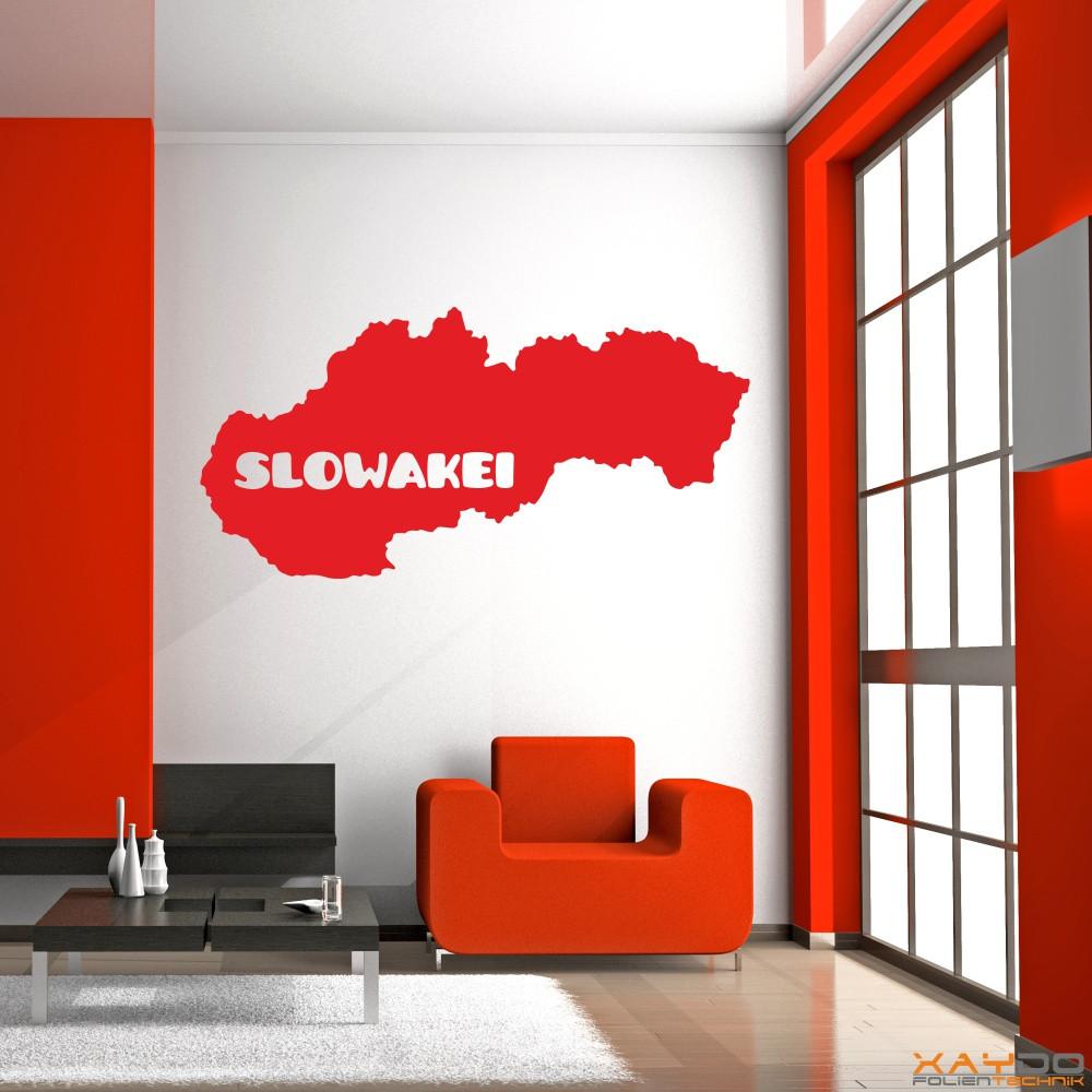 """Wandtattoo """"Slowakei"""""""