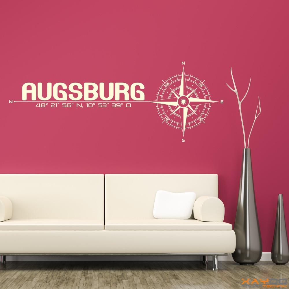 """Wandtattoo """"Stadt Augsburg"""""""