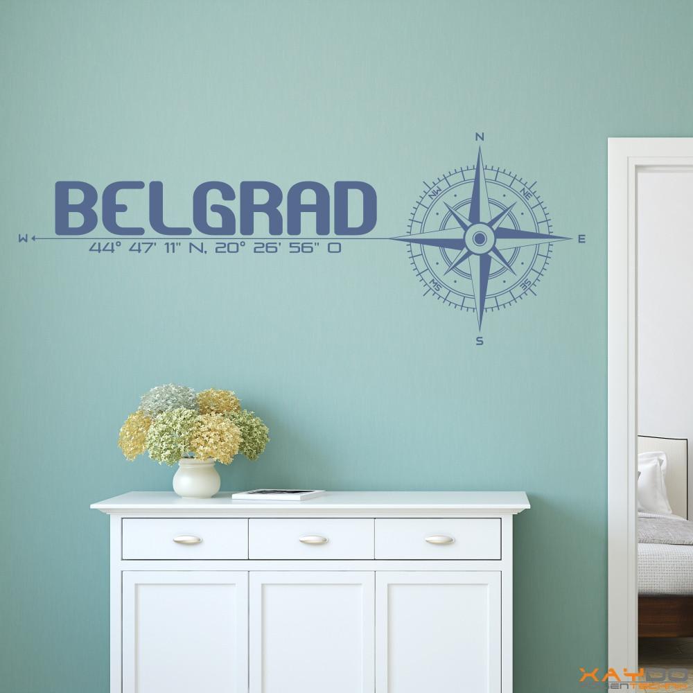 wandtattoo stadt belgrad. Black Bedroom Furniture Sets. Home Design Ideas