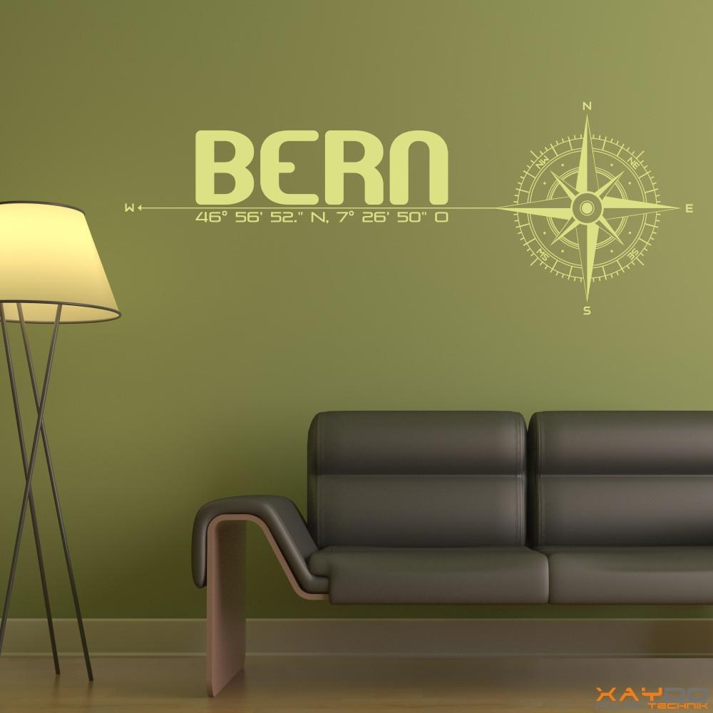 wandtattoo stadt bern. Black Bedroom Furniture Sets. Home Design Ideas