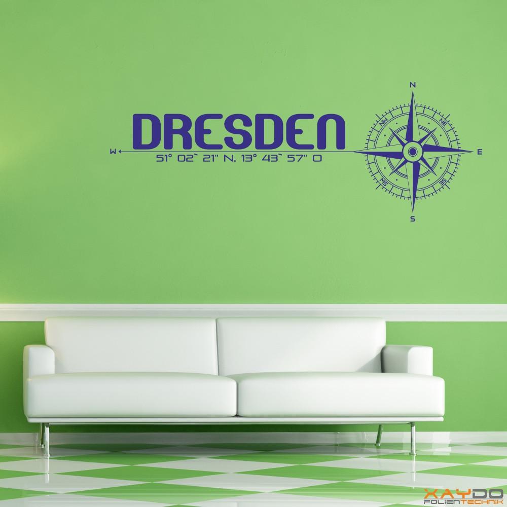 "Wandtattoo ""Stadt Dresden"""