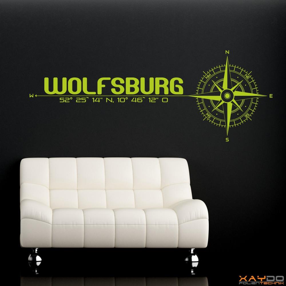 """Wandtattoo """"Wolfsburg"""""""