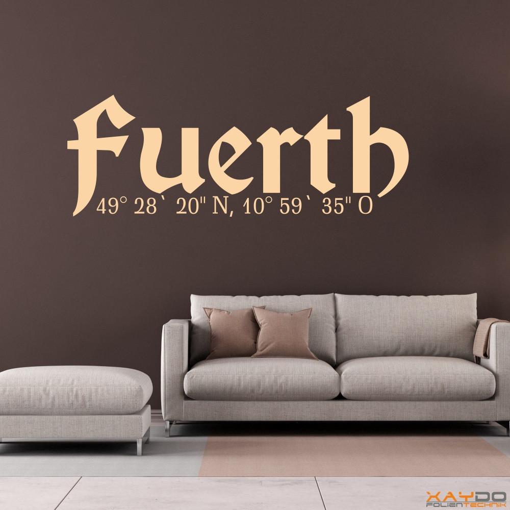 """Wandtattoo """"Fürth"""""""