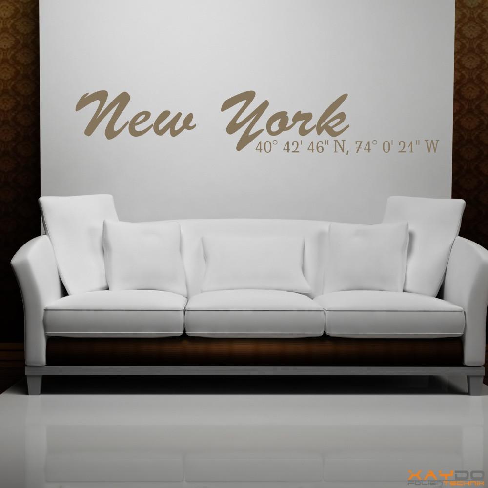 Beeindruckend Wandtattoo New York Foto Von