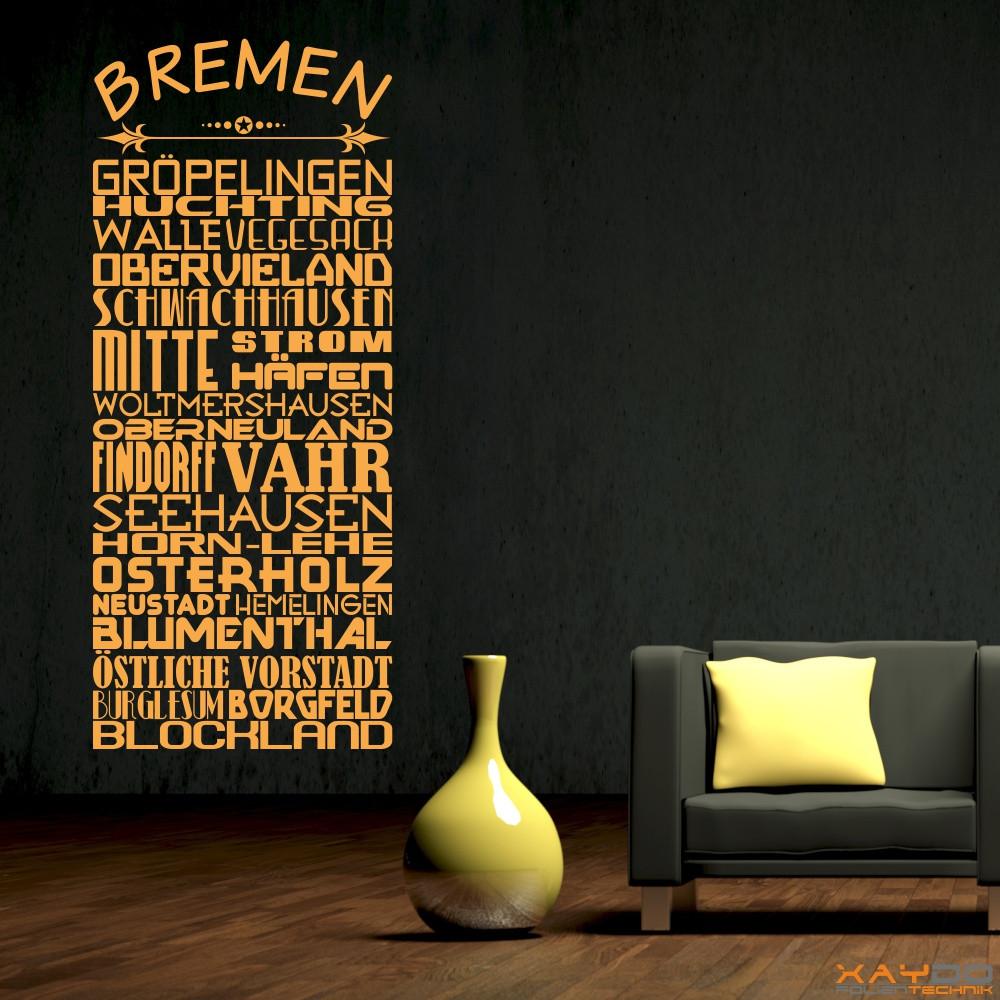 """Wandtattoo Stadtviertel """"Bremen"""""""