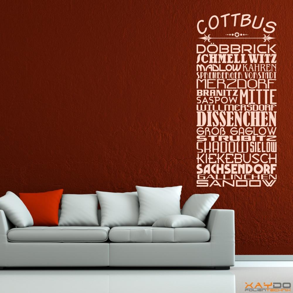 "Wandtattoo Stadtviertel ""Cottbus"""