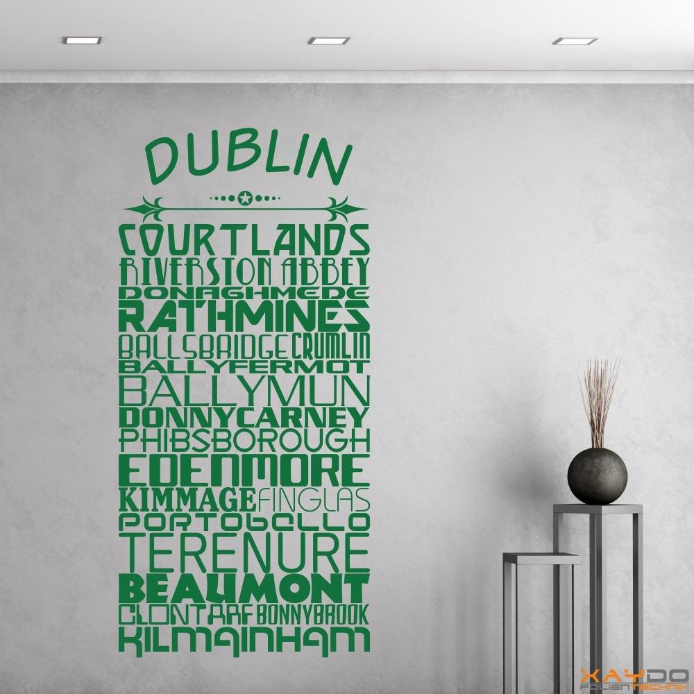 "Wandtattoo Stadtviertel ""Dublin"""