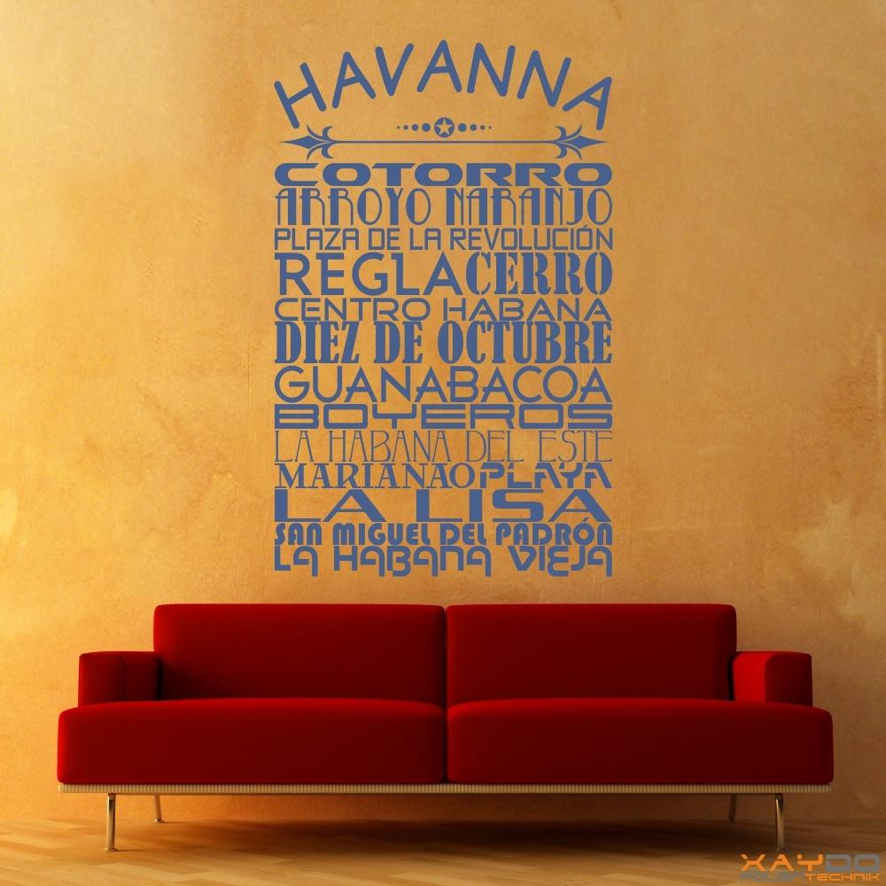 """Wandtattoo Stadtviertel """"Havanna"""""""