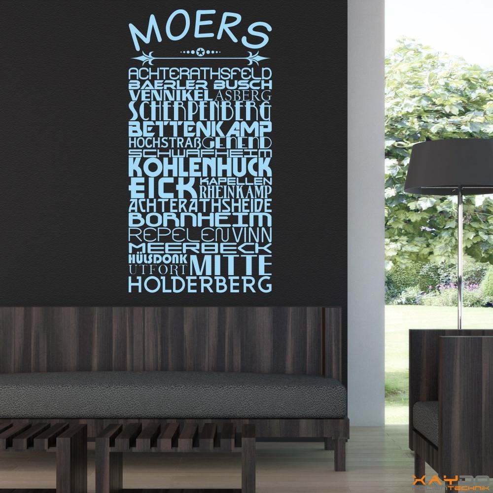 "Wandtattoo Stadtviertel ""Moers"""