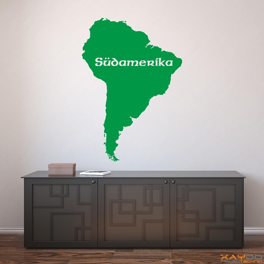 "Wandtattoo ""Südamerika"""