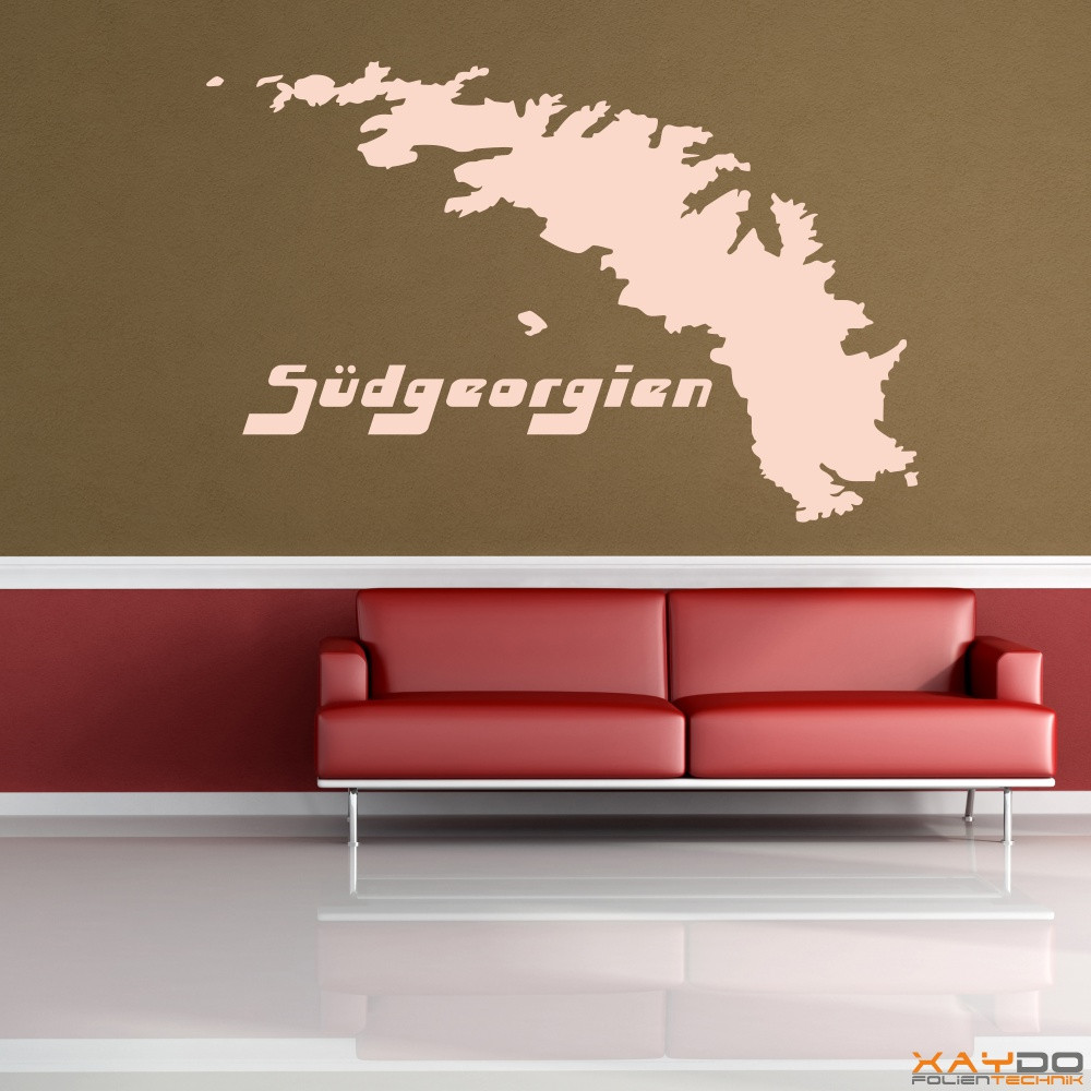 "Wandtattoo ""Südgeorgien"""