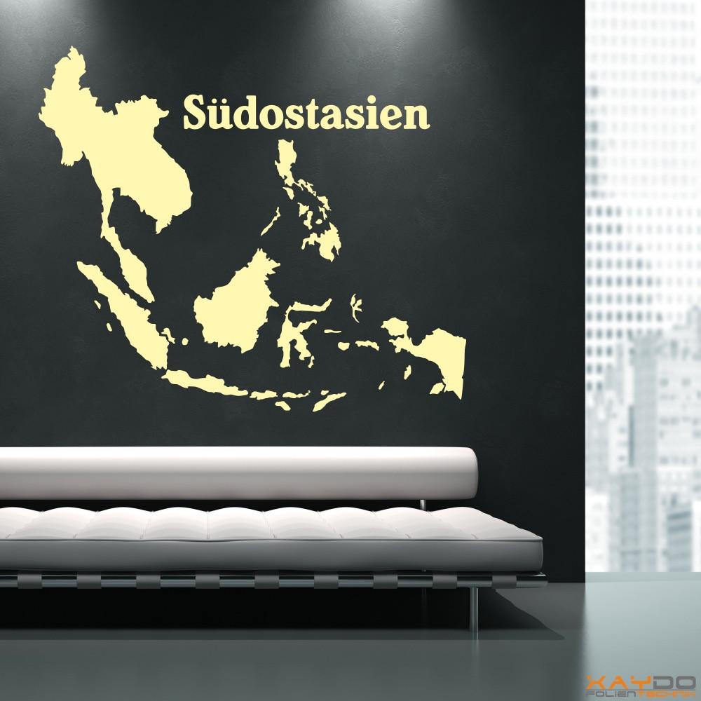 """Wandtattoo """"Südostasien"""""""