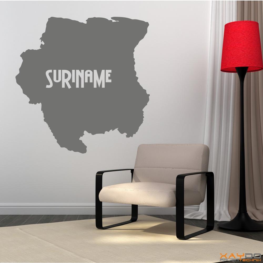 """Wandtattoo """"Suriname"""""""