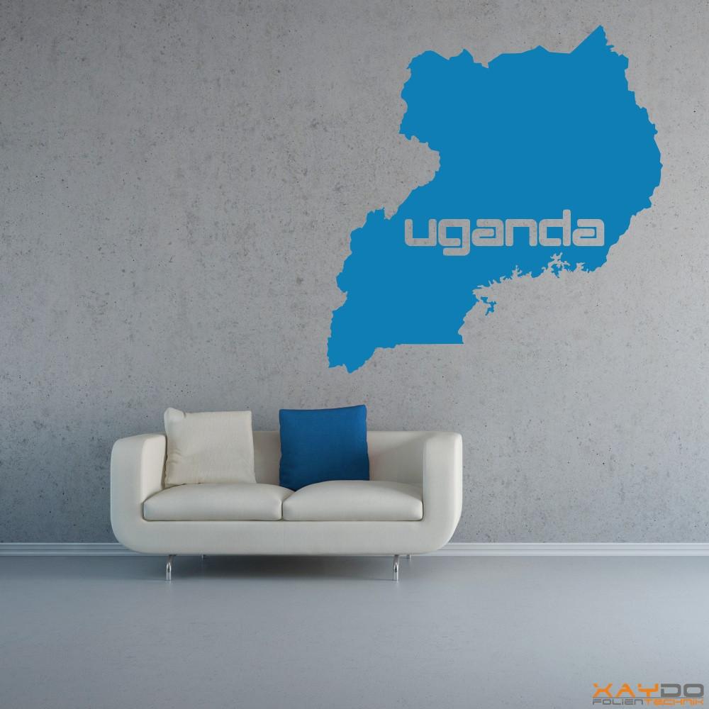 """Wandtattoo """"Uganda"""""""