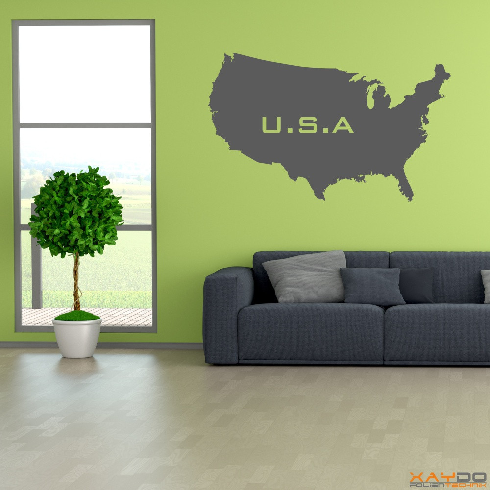 "Wandtattoo ""USA"""
