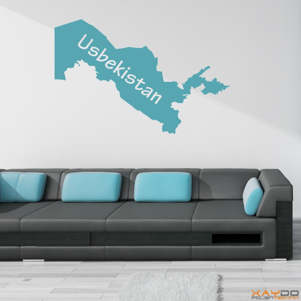 "Wandtattoo ""Usbekistan"""