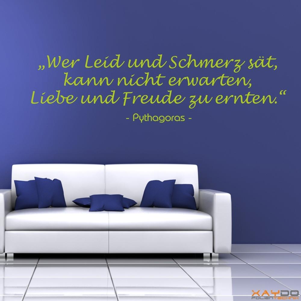 """Wandtattoo """"Wer Leid und Schmerz sät..."""""""