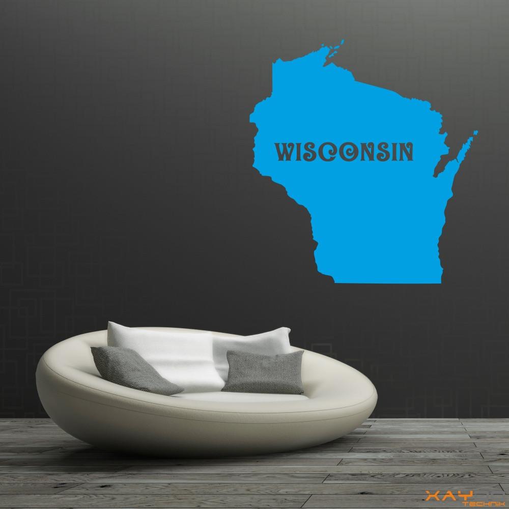 "Wandtattoo ""Wisconsin"""