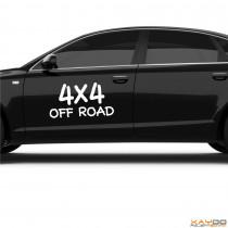 "Autoaufkleber ""4x4 Off Road"""