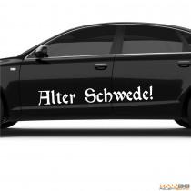 "Autoaufkleber ""Alter Schwede!"""