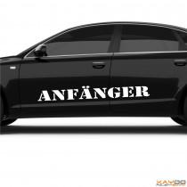 "Autoaufkleber ""Anfänger"""