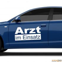 """Autoaufkleber """"Arzt im Einsatz"""""""