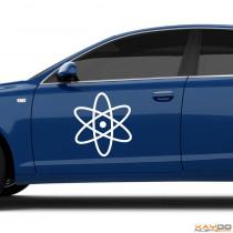 "Autoaufkleber ""Atom"""