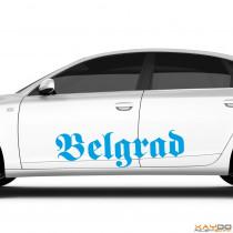 "Autoaufkleber ""Belgrad"""