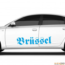 "Autoaufkleber ""Brüssel"""