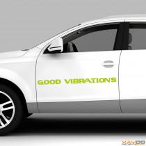 """Autoaufkleber """"Good Vibrations"""""""