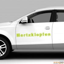 "Autoaufkleber ""Hertzklopfen"""