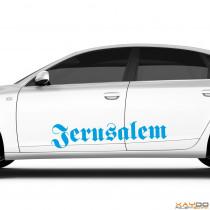 "Autoaufkleber ""Jerusalem"""