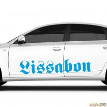 "Autoaufkleber ""Lissabon"""