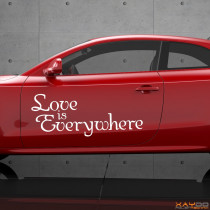 "Autoaufkleber ""Love is Everywhere"""