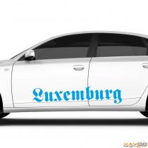 """Autoaufkleber """"Luxemburg"""""""