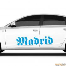 """Autoaufkleber """"Madrid"""""""