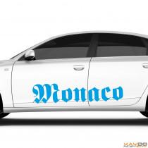 """Autoaufkleber """"Monaco"""""""