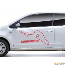 """Autoaufkleber """"Nürburg GP"""""""