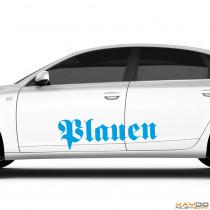 "Autoaufkleber ""Plauen"""