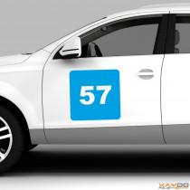 """Autoaufkleber Rennnummer """"GT C"""""""