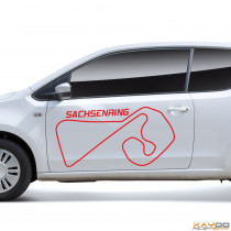"Autoaufkleber ""Sachsenring"""