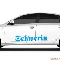 "Autoaufkleber ""Schwerin"""