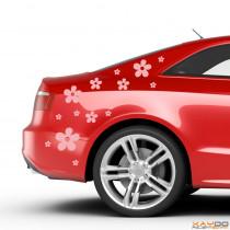"Autoaufkleber Set ""Blumen"""