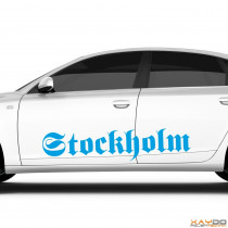 "Autoaufkleber ""Stockholm"""