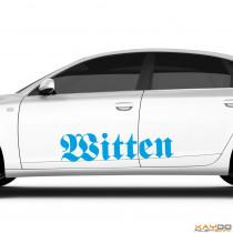 """Autoaufkleber """"Witten"""""""