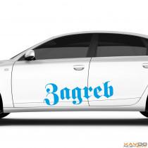 "Autoaufkleber ""Zagreb"""