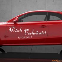 """Autoaufkleber """"Frisch Verheiratet"""""""