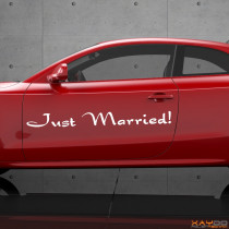 "Autoaufkleber ""Just Married!"""
